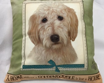 Goldendoodle Gifts, Goldendoodle Pillow, Decorative Pillows