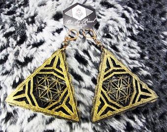 Triangle Geometry Earrings, Laser Cut Jewellery, Baltic Birch, Wood,  boho earrings, natural earrings, gift ideas, geometry jewelry