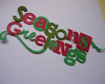 Die Cut Title-Season's Greetings