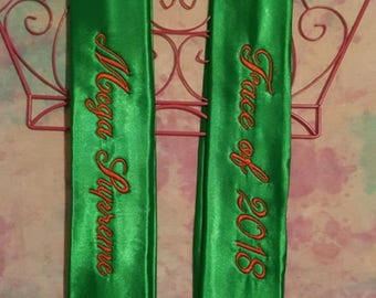 Custom Embroidered Sashes for Special Occasions