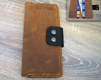 Personalized Leather Passport Wallet, Distressed Leather Travel Wallet, Passport Holder, Leather Passport Cover, Travel Wallet Handmade
