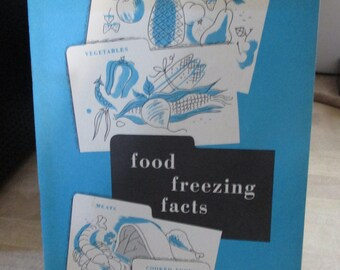 Viintage 1963  Recipe folder - Advertising and and Freezing facts! - Estate find from cookbook collection