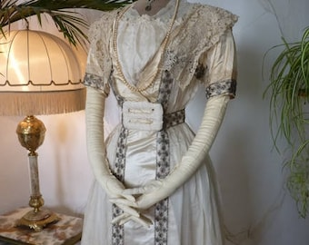 1913 Gala Dress, antique  Dress, Wedding gown, Antique Gown, Mother of the Bride Dress, worn at the wedding Nov. 15, 1913