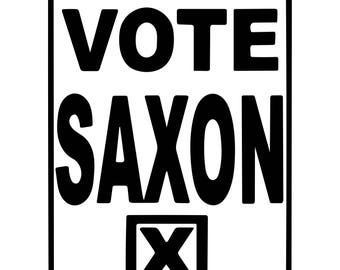 Vote Saxon - Doctor Who The Master Themed Vinyl Decal