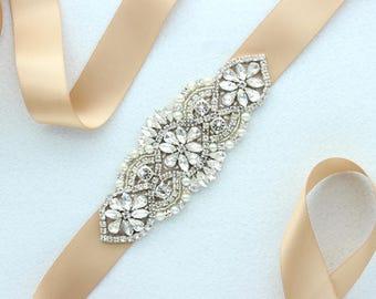 Wedding Dress Belt Pearl Crystal Rhinestone Bridal Belt Bridesmaids Belt Bridal Accessories Wedding Belt Sash Bridal Gown Belt