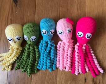 Crochet octopus for preemie, preemie baby gift, octopus for premature babies, octopus toy, octopus jellyfish toy for preemie, knitted