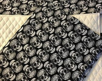 Set of 4 Skull Place-mats