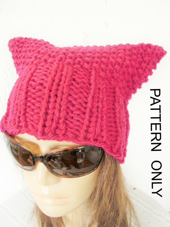 Diy Gift Cat Hat Knitting Pattern Pussy Hat Pussy Cat Hat