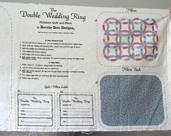 Miniature Quilt & Pillow Kit, 100% Cotton, Fabric w/ Directions, Sewing Project Kit