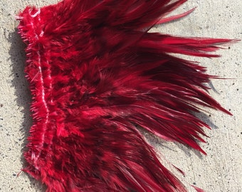 Dark red/ bronze  saddle feathers, rooster feathers, tahitian costumes, milinery, costumes, rooster feathers