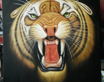 "Tiger painting oil painting on canvas 36""X48"""