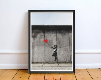 Banksy Balloon Girl,Photo,Digital,Download,Decor,Home,Office,,Gift,Baby Shower,Gift,Cup,Cafe,Work,Baby shower
