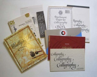 Lot of a Calligraphy Book, Brochures and Writing Pads - Handwriting, penmanship, Spencerian