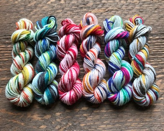 Cascade Heritage Prints Mini Skein Set -- 6 Mini Skeins/25 Yards Each