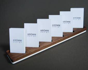 Business card stand etsy multiple vertical business card colourmoves