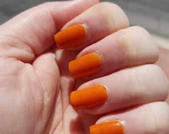 Pumpkin Patch Nail Polish- Orange Nail Lacquer - Pumpkin Nail Polish