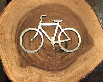Rustic Recycled Steel Metal Bike Bicycle Christmas Ornament