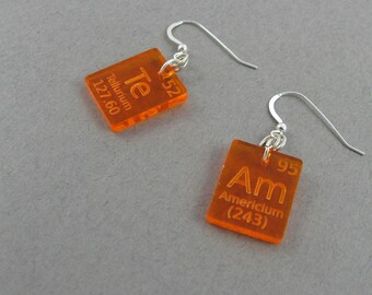 Omg earrings scientific jewelry with periodic table elements science lab jewelry periodic table earrings team chemistry gift for lab tech science urtaz Image collections