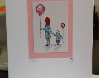 Two Of Us Art Print Greeting Card