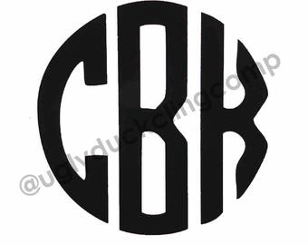 Simple Monogram Vinyl Decal