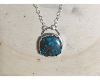 Bisbee Mined Turquoise Necklace (minor flaw) | 16""