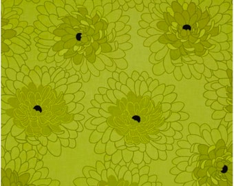 Green Bloom Fabric, Fat Quarter, Fresh Bloom by Michele D'Amore for Benartex