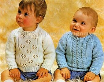baby, toddler, sweater, jumper, knitting pattern, pdf, digital download
