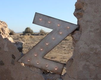 """24"""" Marquee Letter or Number Lighted Sign Wood.... A B C D E F G H I J K L M N O P Q R S T U V W X Y Z 1 2 3 4 5 6 7 8 9 0"""