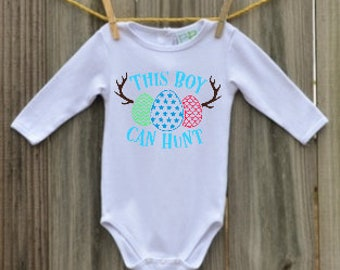 This Boy Can Hunt Easter Onesie - Colors can be chosen