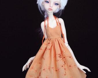 Cotton dress for bjd  doll chateau kid k-7/k-11 body