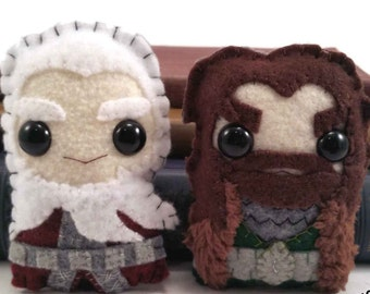 Thorin and Balin plushies (made to order)
