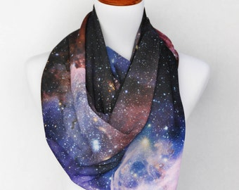 Galaxy Scarf, Galaxy Print Scarf, Nasa Galaxy Scarf, Nebula Scarf, Space Scarf, Gift for her, Gift for him, Scarves and Wraps, Wholesale