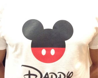 Camiseta con dibujo mickye mouse DADDY 1 pc