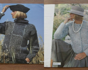knitting patterns WENDY Monet and Matisse sweaters jacket