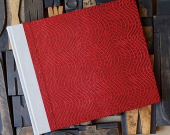 Photo Album - Medium with a Red Paste Paper Cover