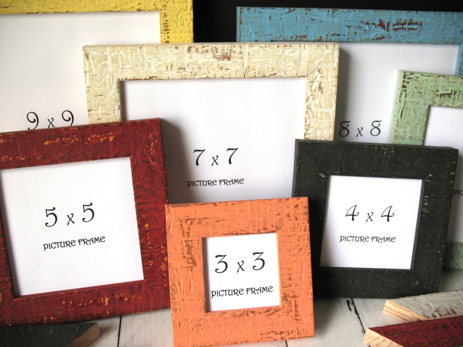 SQUARE - 12 COLORS! MINI Beachy Picture Frame Instagram Photo ...