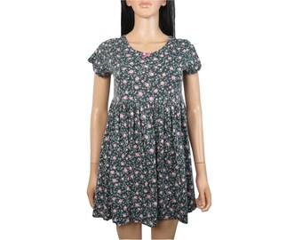 Vintage 90s Floral Babydoll Dress Size S/XS