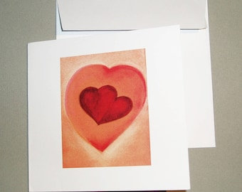 """One heart"" card with its envelope."