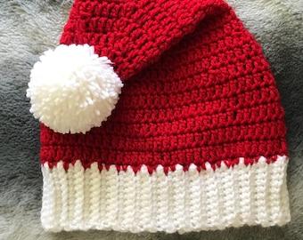 Crochet Santa Hat, Santa Hat, Christmas Hat
