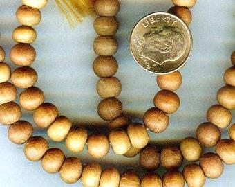 8mm Fragrant Sandalwood Wood Round Beads 26pcs