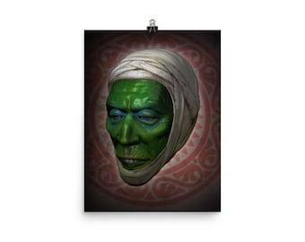 Mummy Mask Tribute Art Print Poster 12X16
