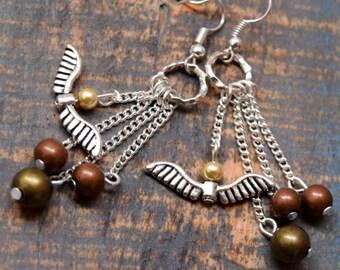 Beads Rings and Wings Earrings