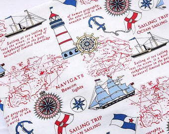 Fabric upholstery by the yard old world map waverly chart house world map fabric linen cotton fabric vintage voyage navigation sailing boat compass ocean collection 12 yard h32 gumiabroncs Choice Image