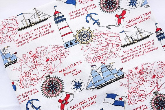 World map fabric linen cotton fabric vintage voyage navigation world map fabric linen cotton fabric vintage voyage navigation sailing boat compass ocean collection 12 yard h32 from gideonstudio on etsy studio gumiabroncs Image collections