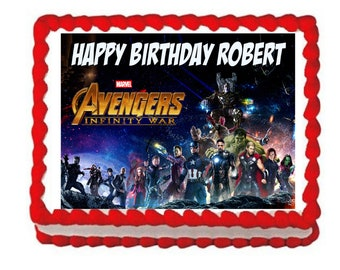 Avengers Infinity War party decoration edible cake image cake topper frosting sheet*