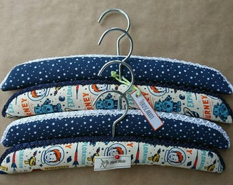 Padded hangers for children, babies and adults. Sets of two, three and four. Different sizes available.