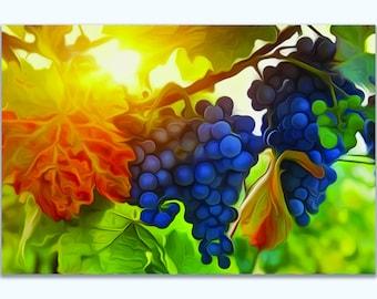 Vineyard Oil Painting Canvas Print