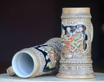 German Beer Steins. Made in Brazil Ceramarte Beer Steins/Barware Stoneware/Ceramic. Oktoberfest.Collectible Mug/Steins.Gifts For Him.#171243