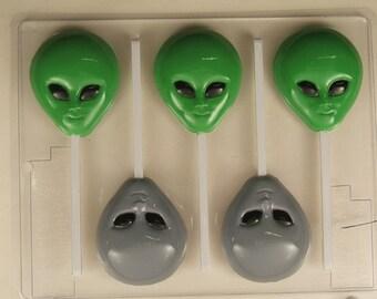Alien Head Lollipop H076