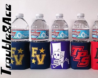 Custom Can Coolers, Team Spirit Can Cozie, Personalized with Your Team or Company Logo and a Name